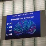 13/09/2018 Европскиот  парламент усвои Предлог на ЕУ директива за авторските права на интернет